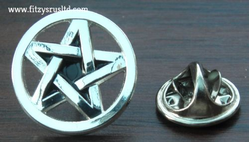 Pentacle Pentagram Metal Lapel Hat Tie Pin Badge Wicca Star Wiccan Wiccans Pagan